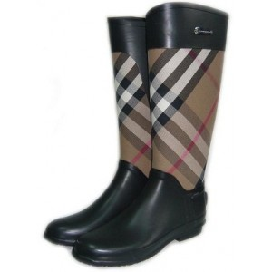 Fashion rubber boots (with fabric upper)