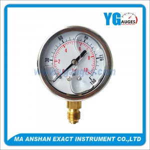 Liquid Filled Pressure Gauge,Bottom Connection,One Body Connect Type