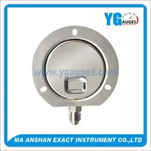 All S.S. Liquid Filled Pressure Gauge,Bayonet Type With Back Flange