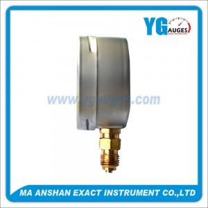DIN Liquid Filled Pressure Gauge,Brass Bottom Connection
