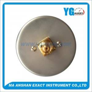 Low Pressure Gauge,Stainless Steel Case,Back Connection