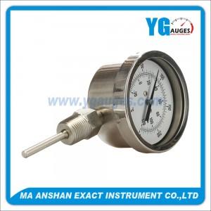 S.S. Bimetal Thermometer Bottom Mount