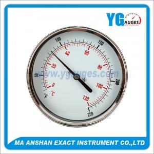 M.S. Bimetal Thermometer Back Mount