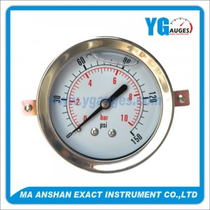 All S.S. Liquid Filled Pressure Gauge,With U-Clamp