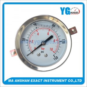 All S.S. Liquid Filled Pressure Gauge, Bayonet Type With U-Clamp