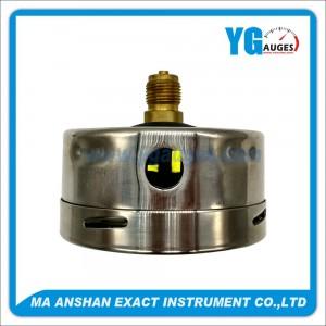 DIN Liquid Filled Pressure Gauge, Brass Lower Back Connection