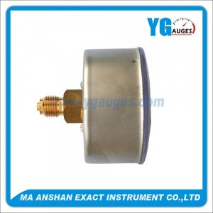 indicador de presión baja, Caja de acero inoxidable, conexión posterior