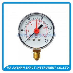 Utility Pressure Gauge With Red Pointer