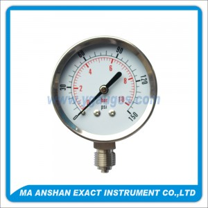 Utility Pressure Gauge With SS Case And Bezel,SS Internal
