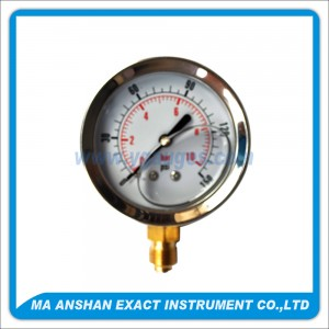 Liquid Filled Pressure Gauge,Bottom Connection,Bayonet Type
