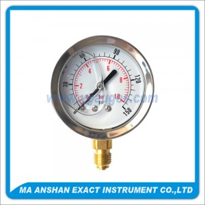 Liquid Filled Pressure Gauge,Bottom Connection,One Body Connect Bayonet Type