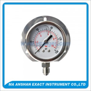 All S.S. Liquid Filled Pressure Gauge,With Back Flange