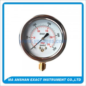 Low Pressure Gauge,Chrome Plated Case Bayonet Type,Bottom Connection
