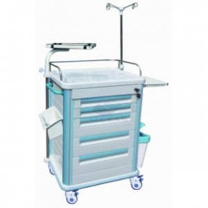 AG-ET005B1 Five drawers plastic material medical cart