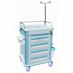 AG-ET012B1 SS guardrail nurse working trolley
