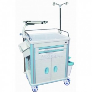 AG-ET014B1 One step molding plastic patient cart
