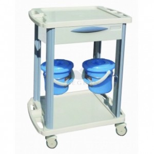 AG-CT001B3 One drawer hospital plastic trolley