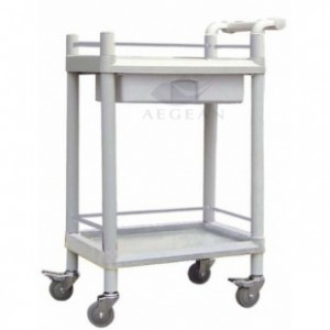 AG-UTA08 Plastic two layers popular mobile cart