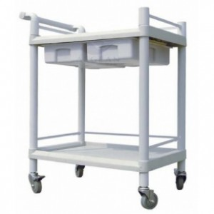 AG-UTB08 Two drawers plastic multifunction medical cart