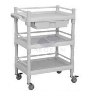 AG-UTB09 Simple design plastic material nursing trolley