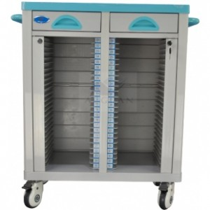 AG-CHT003 Double rows medical records trolley