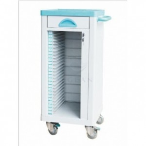 AG-CHT004 Durable ABS hospital file trolley