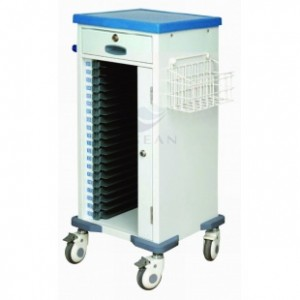 AG-CHT010 With single row patient records cart