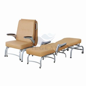 AG-AC005 With comfortable mattress hospital metal bed chair