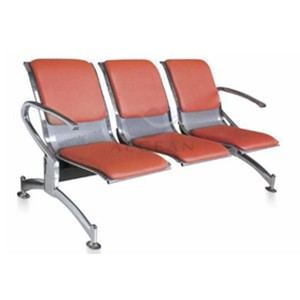 AG-TWC003 With PU mattress three seater metal chair