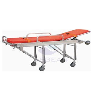 AG-4C Best selling hospital al-alloy frame durable stretcher bed