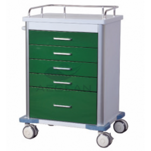 AG-GS001 With five drawers metal frame hospital trolley nursing furniture