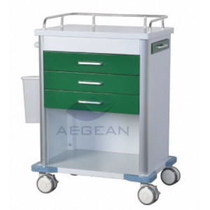 AG-GS005 Hot Sells Cheap Hospital Metal medical emergency trolley