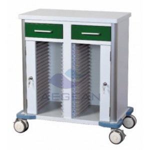 AG-GS010 hot sell CE&ISO hospital Dark Green hospital file trolley