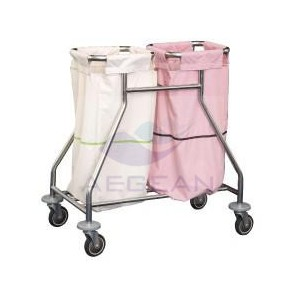 AG-SS019 Best selling durable hospital linen trolley