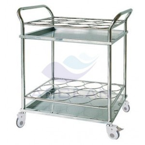 AG-SS021A hospital metal stainless steel bottle trolley