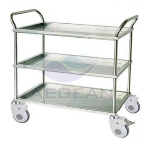 AG-SS022A with Three Shelves Crooked Handrail Treatment Trolley