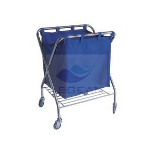 AG-SS023 With one bag stainless steel waste trolley