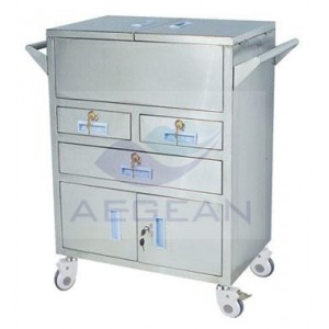 AG-SS028 304 stainless steel hospital Emergency Trolley