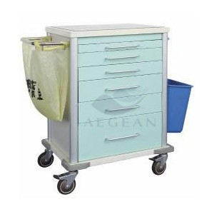 AG-MT025 with bucket color-steel clinic trolley