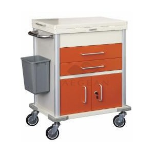 AG-MT026 With two drawers hospital economic medical trolley