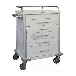 AG-MT028 With five drawers hospital metal frame instrument trolley