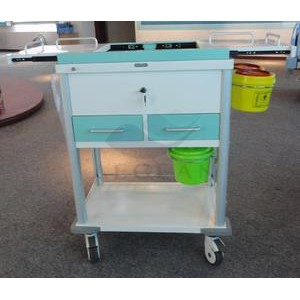 AG-MT033 With two drawers hospital metal frame dressing trolley