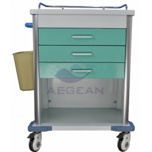 AG-MT034 Best selling hospital with drawers ISO&CE medicine trolley