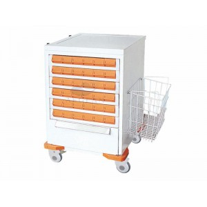 AG-MT036 With five drawers hospital metal frame medication carts