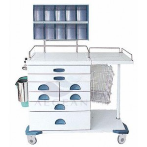 AG-AT017 With storage box hospital metal frame drug trolley