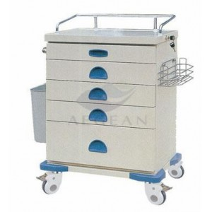 AG-AT020 With five drawers hospital metal frame trauma care cart