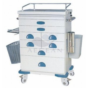 AG-AT021 ISO&CE approved hospital 304 stainless steel hospital trolley