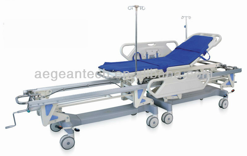 AG-HS003 With two parts hospital metal Rescue Stretcher