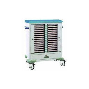 AG-CHT009 CE ISO with double rows hospital file cart