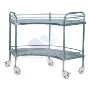 AG-SS007B With two layers hospital operation room tools stainless steel cart